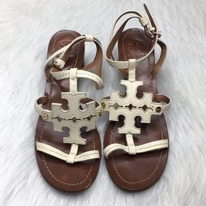 Tory Burch Chandler 45MM Sandal Tumbled Leather